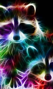 Image Gallery neon abstract animals