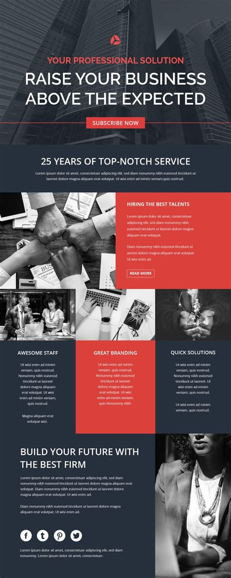 Free Template For by Top 20 Creative Email Newsletter Templates Exles