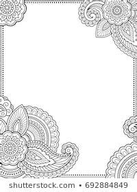 Stylized with henna tattoos decorative pattern for decorating covers for book, notebook, casket
