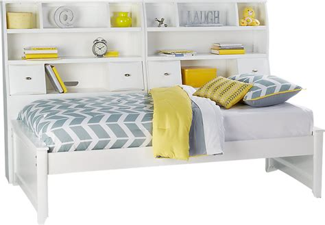 metal bed frame league white 5 pc bookcase daybed beds white