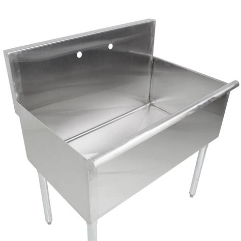Utility Sink With Drainboard Freestanding by Regency 36 Quot 16 Stainless Steel One Compartment