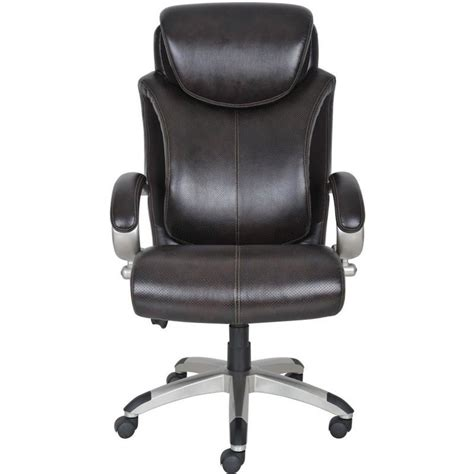 air executive office chair in brown bonded leather 43809
