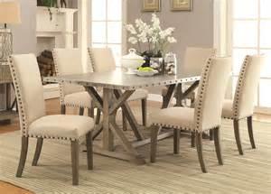Dining Room Table Set Coaster Furniture 105571 105572 7 Pc Dining Set