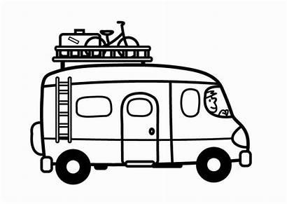Camper Colorare Disegno Furgoneta Colorear Dibujo Dibujos