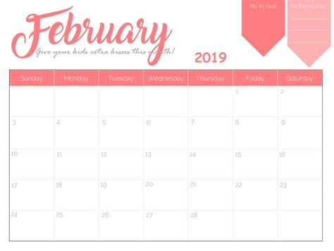 february calendar spanish printable images