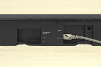 Samsung Tv Sound Bar Connection Diagram by Connect The Soundbar To Your Tv Using Hdmi Arc