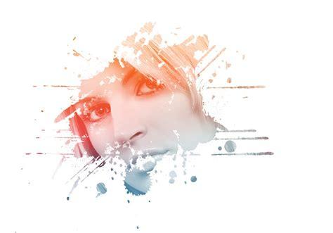 amazing photo effects paint splash on face in photoshop