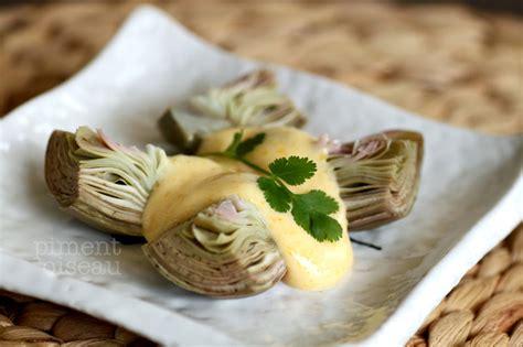comment cuisiner des huitres artichauts poivrade sauce kimizu piment oiseau