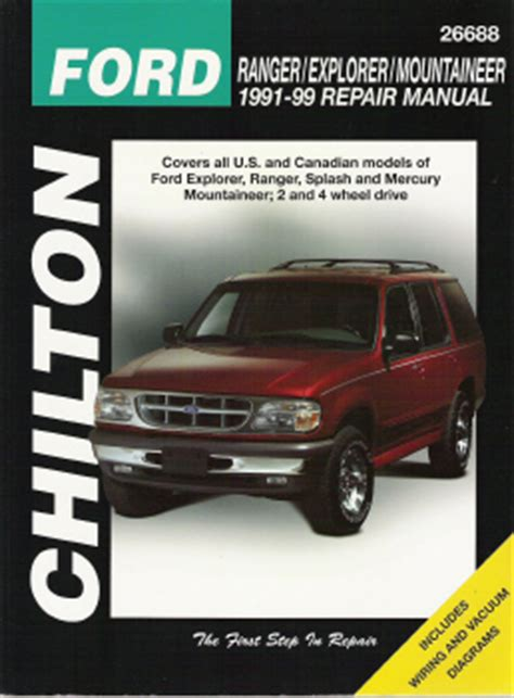 chilton car manuals free download 1998 mercury mountaineer head up display 1991 1999 ford manual ranger explorer splash mercury mountaineer chilton s total car care