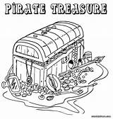 Pirate Coloring Pages Treasure Colouring Chest Printable Adult Map Colorings Template Popular sketch template