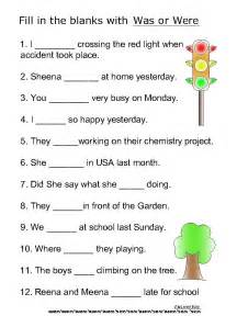 worksheets for class 3 grammar helping verb worksheets for was were