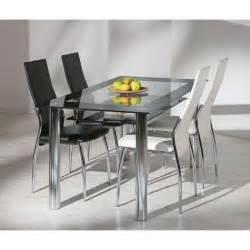 Le Chevet Pied En Verre by Table Verre Securit Et Pieds Metal Achat Vente Table A