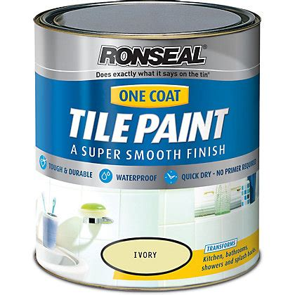 Homebase Cupboard Paint by Ronseal Ivory One Coat Cupboard Paint 750ml