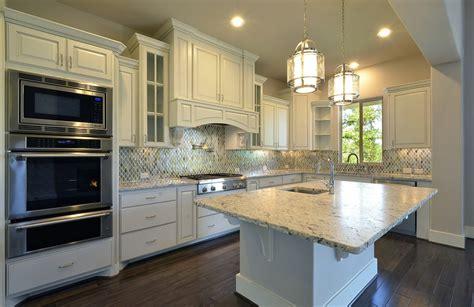 Range In Kitchen Island - model home kitchen cabinets in bone white burrows cabinets