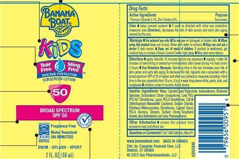 Banana Boat Zinc Oxide by Banana Boat Information Side Effects Warnings And Recalls
