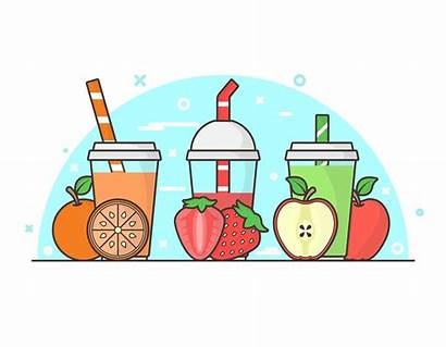 Smoothie Clipart Smoothies Ingredients Clip Cartoon Vecteezy