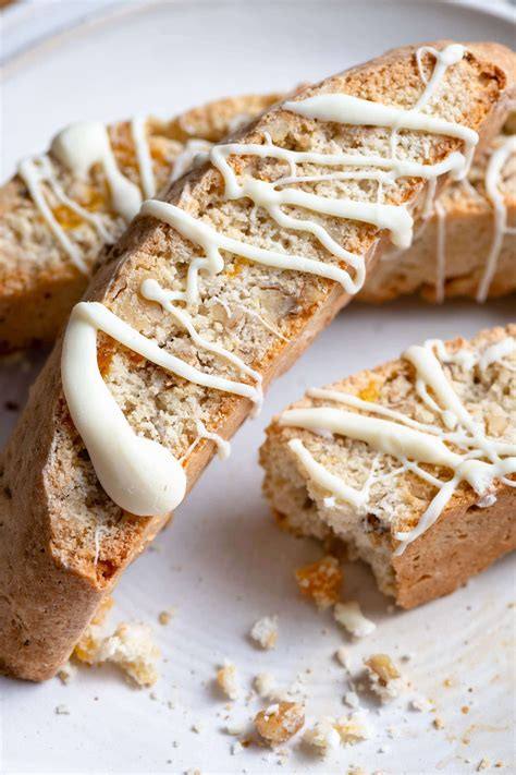 These started out with just almonds and the cranberries and dried apricots got worked in there somehow. White Chocolate Apricot Walnut Biscotti | #biscotti #cofee ...