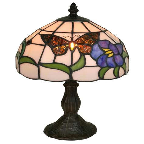 home depot tiffany ls amora lighting 20 in tiffany style butterfly finish table