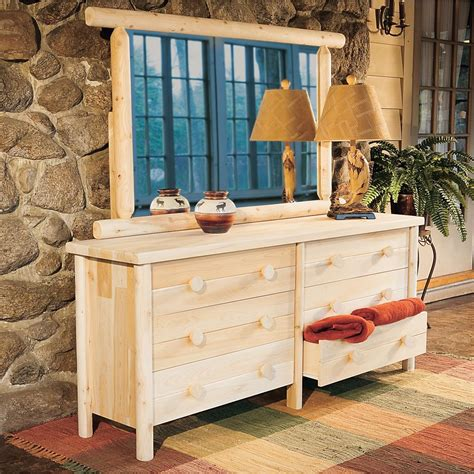 rustic natural cedar furniture company 174 cedar log dresser