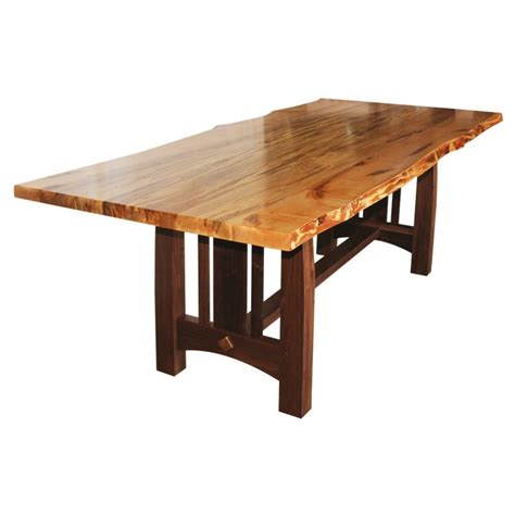 what is a live edge table wormy maple live edge table solid hardwood furniture