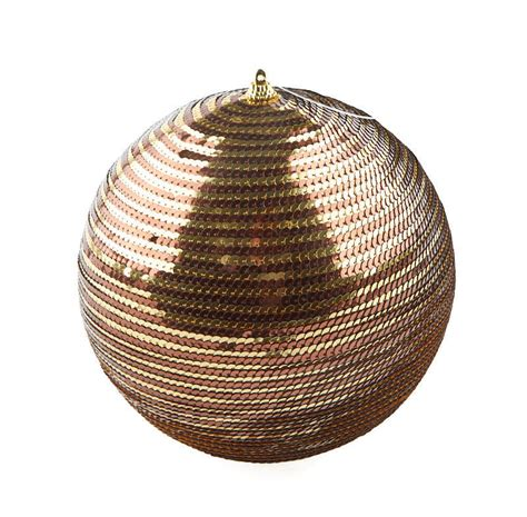 large gold and brown sequin ball ornament christmas