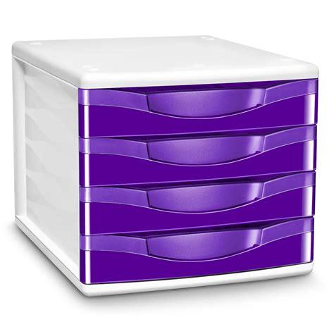 classement bureau cep module de classement 4 tiroirs gloss violet 894g