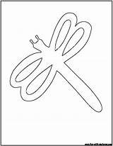 Outline Dragonfly Coloring Pages Printable Fun sketch template