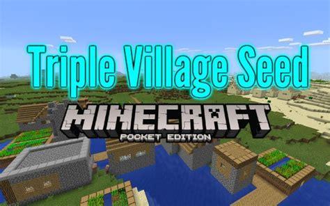 Minecraft Pe Seeds 0.14 Triple Village, Island Spawn 0.13