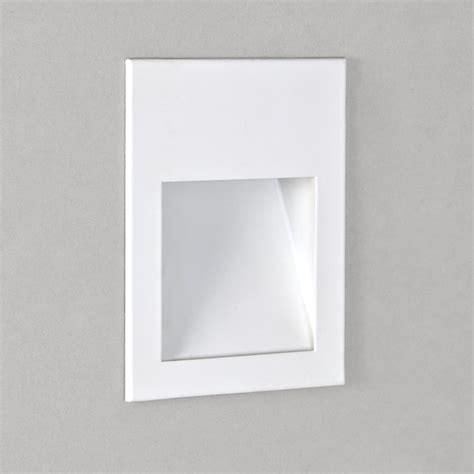 astro lighting 0973 borgo 90 white led recessed wall or