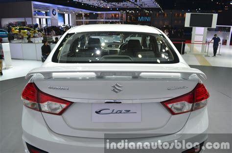 Interior styling kit part no. Suzuki Ciaz Aero rear spoiler at the 2015 Bangkok Motor Show