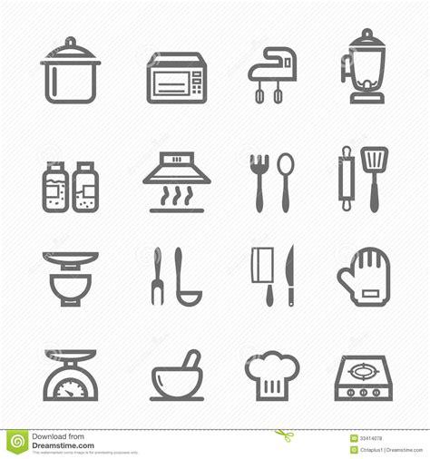 livre de cuisine cooking chef ligne ensemble de symbole de cuisine d 39 icône illustration