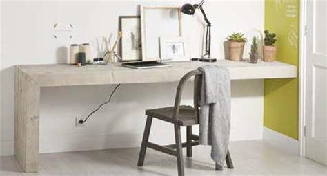 montage de bureau steigerhout bureau met montage aan de muur knutsel kidsroom bedroom workspace