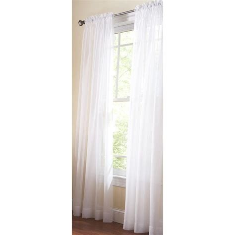 White Sheer Kitchen Curtains by Martha Stewart Living White Sheer Rod Pocket