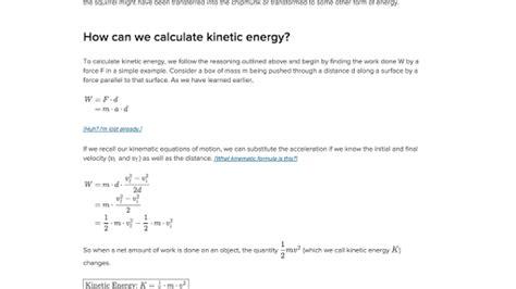 what is kinetic energy article khan academy