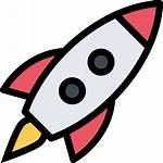 Rocket Icon Space Astronaut Future Planet Science