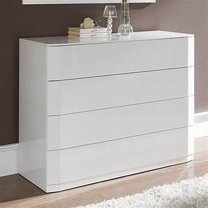 Grande Commode Blanche : commode design laquee blanche tacito zd1 comod a d ~ Teatrodelosmanantiales.com Idées de Décoration