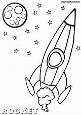 Rocket Coloring Pages Print sketch template