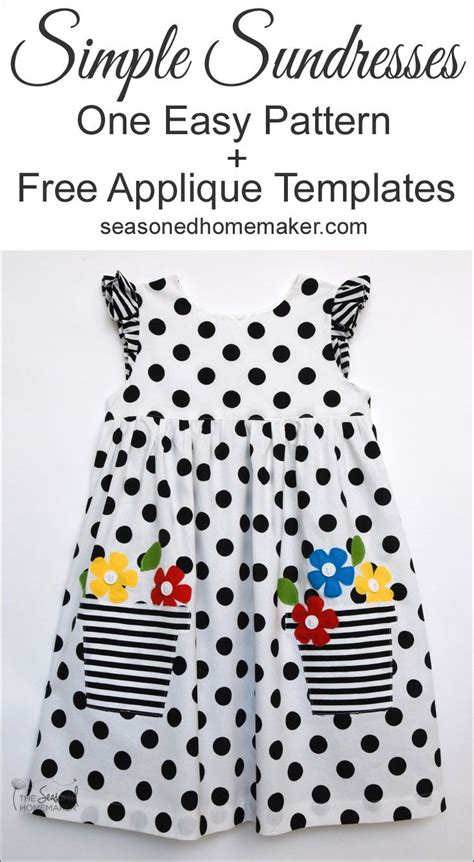 how to sew applique s easy to sew sundress with appliqu 233