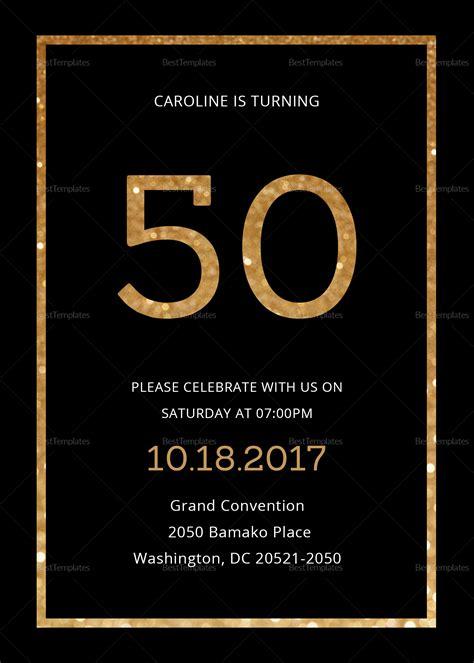 elegant black  gold  birthday invitation design