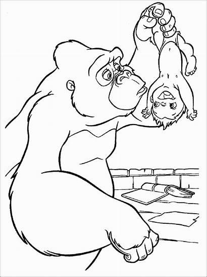 Apes Coloring Pages Tarzan Coloringbay