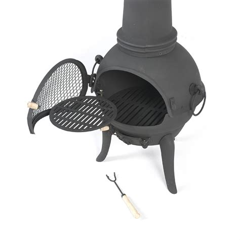 Large Cast Iron Chiminea Sale - terra cast iron chiminea black 125cm high on sale fast