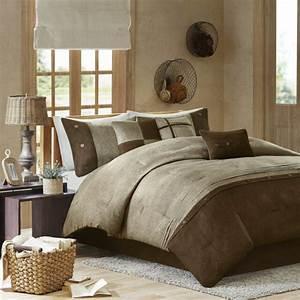 Beautiful, Ultra, Soft, Brown, Taupe, Coral, Beige, Leaf, Suede, Stripe, Comforter, Set