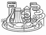 Park Water Clipart Drawing Coloring Waterpark Clipartmag Clipground sketch template