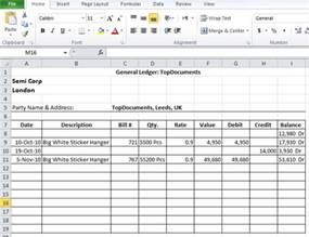 General Ledger Template Excel Free Download