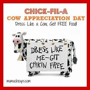 2015 Chick-fil-A Cow Appreciation Day (Free Meal!) on 7/14