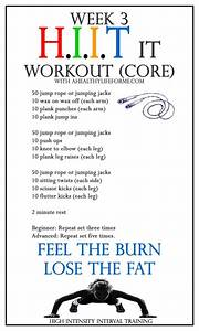 HIIT Workout Week 3 CORE | Fitness | Pinterest | Workout ...