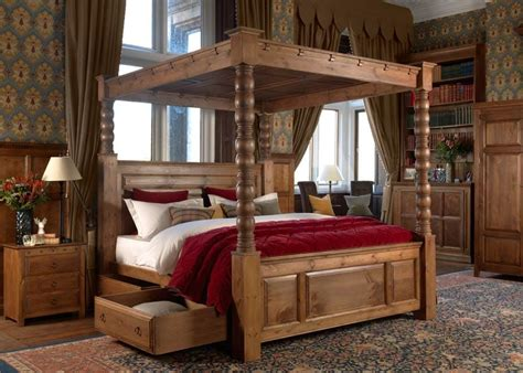 Solid Wood Four Poster Bed