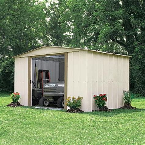 Storage Sheds Sears Canada by Arrow Steel Storage Shed With Foundation 10x10 Sears