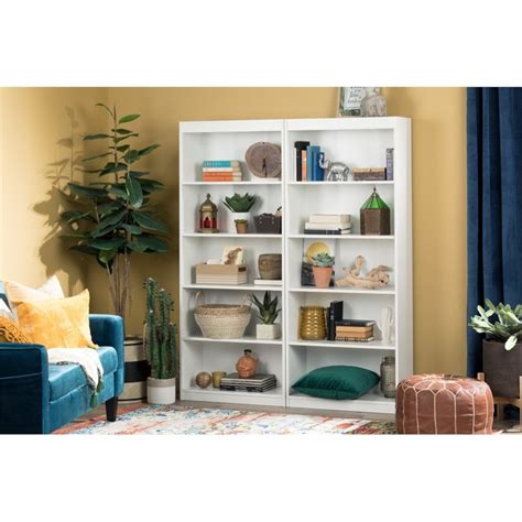 South Shore White Bookcase by South Shore 5 Shelf Bookcase In White 7250768c