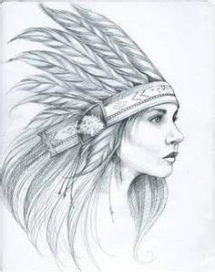 native american pencil and ink drawings | native american ...